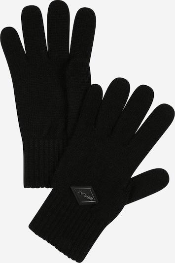 Mănuşi cu degete REPLAY pe negru amestecat, Vizualizare produs