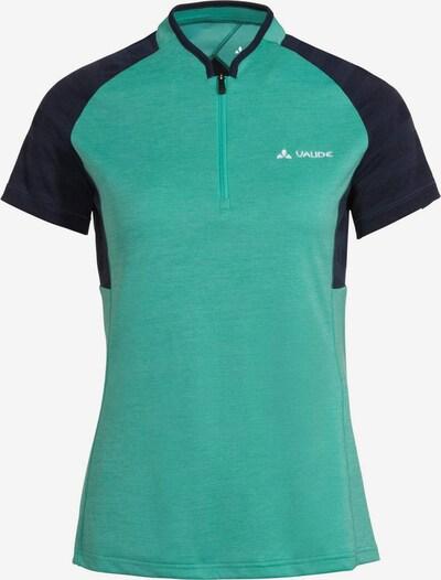 VAUDE Functioneel shirt 'Tamaro' in de kleur Navy / Jade groen, Productweergave