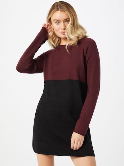 ONLY Robes en maille en lie de vin / noir, Vue avec modèle