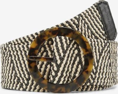 TOM TAILOR Cinturón 'ERIN' en beige / negro, Vista del producto