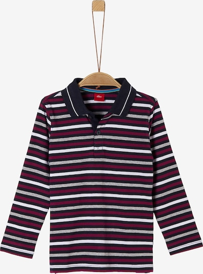 s.Oliver Shirt in bordeaux / schwarz / weiß, Produktansicht