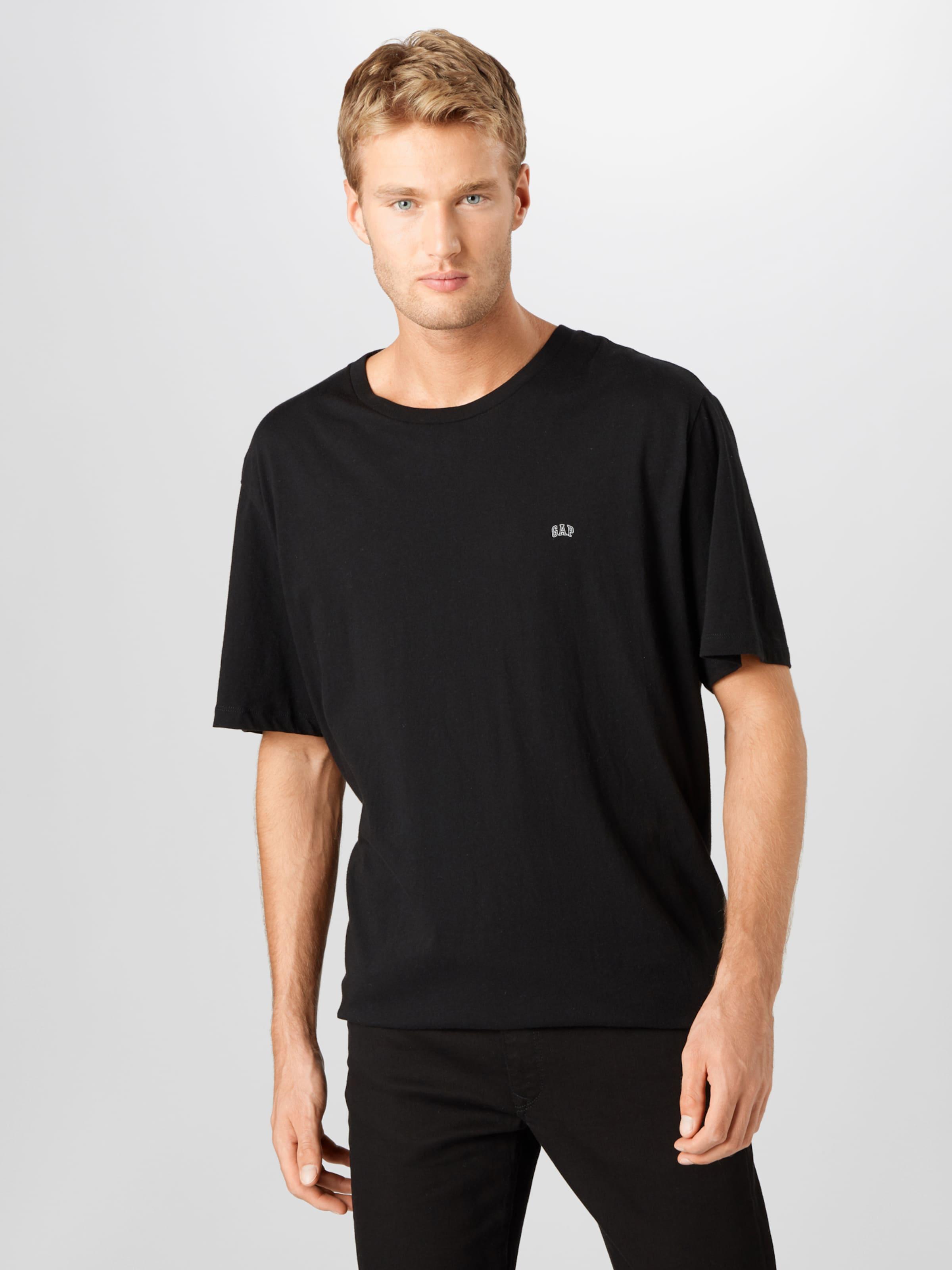 GAP T-Shirt in hellgrau / schwarz Jersey GAP3989001000001