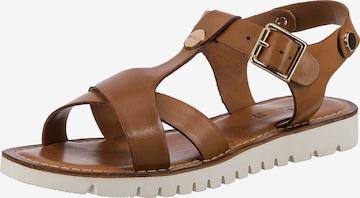 MEXX Sandale 'Gonda' in Braun