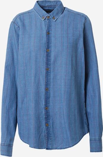 Trendyol Blus i blå denim / pastellröd, Produktvy