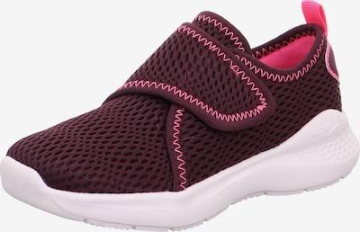 SUPERFIT Sneaker 'FLASH' in neonpink / rot, Produktansicht
