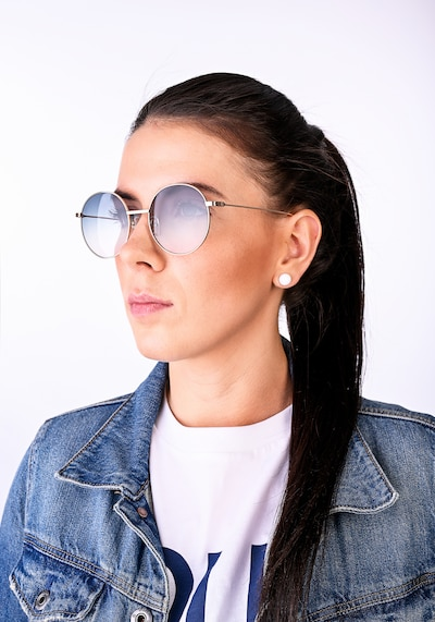 EYE RESPECT Sonnenbrille 'LUISA' in gold: Frontalansicht