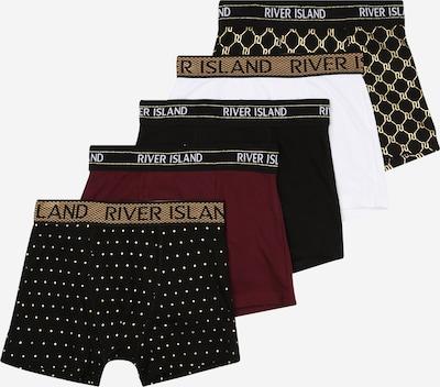 Apatinės kelnaitės iš River Island , spalva - tamsiai raudona / juoda / balta, Prekių apžvalga