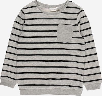 NAME IT Sweatshirt 'VANNO' in graumeliert / schwarz, Produktansicht