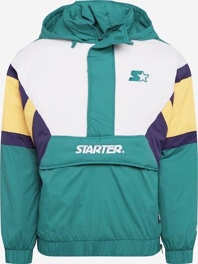 Demisezoninė striukė 'Starter' iš Starter Black Label , spalva - tamsiai mėlyna / šviesiai geltona / smaragdinė spalva / balta, Prekių apžvalga