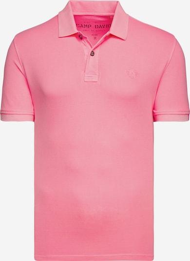 CAMP DAVID Basic Kurzarmpolo aus Piquee in pink, Produktansicht