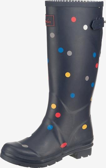 Tom Joule Gummistiefel 'Welly' in blau / dunkelblau / gelb / flieder, Produktansicht