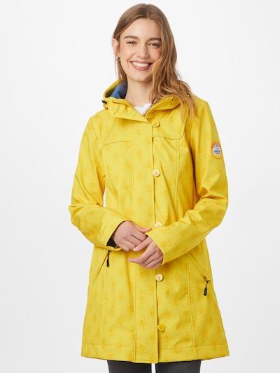 Blutsgeschwister Manteau mi-saison 'Wild Weather' en bleu / jaune, Vue avec modèle