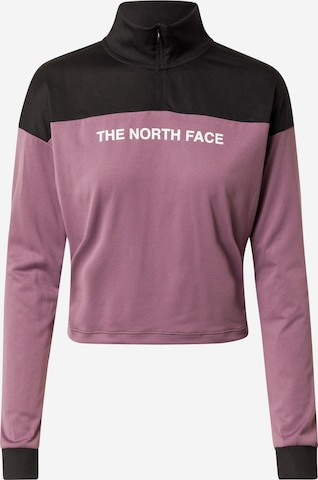 THE NORTH FACE Athletic Sweatshirt in Purple