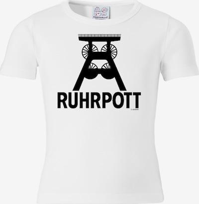 LOGOSHIRT T-Shirt 'Ruhrpott' in schwarz / weiß, Produktansicht