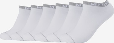 MUSTANG Sneakersocken 'Matthew' im 6er Pack in weiß, Produktansicht