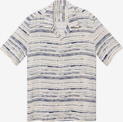 MANGO MAN Hemd 'Lipari' in ecru / blau, Produktansicht