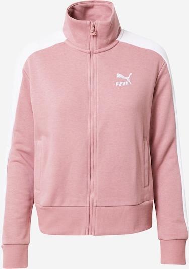 fáradt rózsaszín / fehér PUMA Sport szabadidős dzsekik, Termék nézet