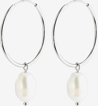 Pilgrim Boucles d'oreilles 'Poesy' en argent / blanc perle, Vue avec produit