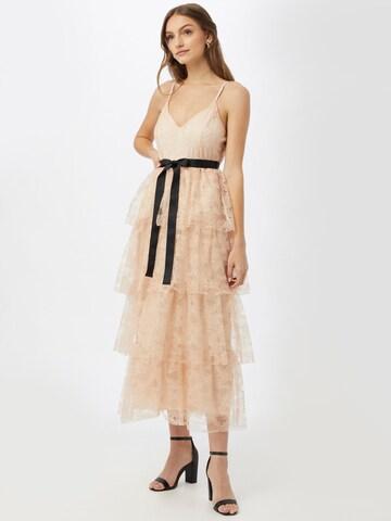 Forever Unique Φόρεμα κοκτέιλ σε μπεζ