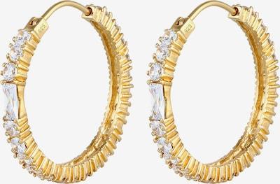 ELLI PREMIUM Ohrringe Creole, Kristall Ohrhänger in gold, Produktansicht