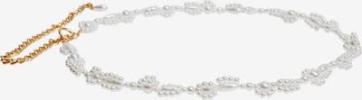 Curea 'BIZAN' MANGO pe auriu / alb perlă, Vizualizare produs
