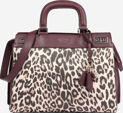 GUESS Handbag 'Katey' in beige / wine red / black, Item view