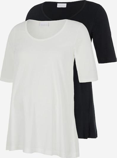 MAMALICIOUS Majica 'Evana' | črna / bela barva, Prikaz izdelka