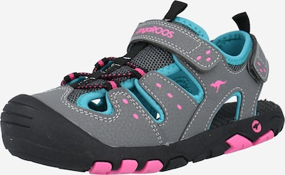 KangaROOS Otevřená obuv - aqua modrá / tmavě šedá / světle růžová, Produkt