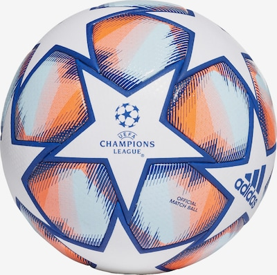 ADIDAS PERFORMANCE Ball in blau / orange / weiß, Produktansicht