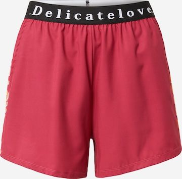 DELICATELOVE Spordipüksid 'MASHA', värv punane