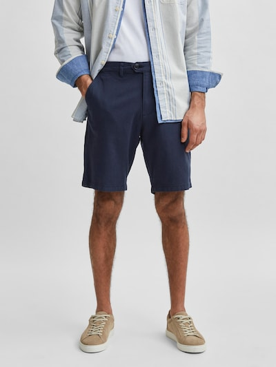 kék melír SELECTED HOMME Chino nadrág, Modell nézet