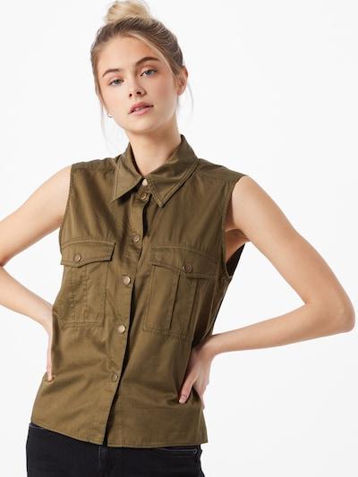 DRYKORN Bluse 'NAMBA' in khaki, Modelansicht