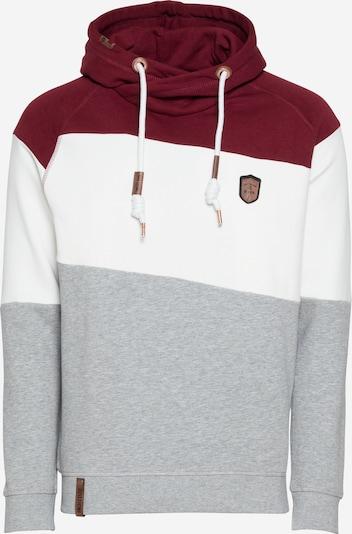 INDICODE JEANS Sweatshirt 'Pessac' in graumeliert / bordeaux / offwhite, Produktansicht