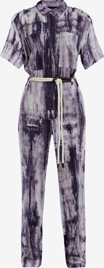 Finn Flare Overall in grau / lila / offwhite, Produktansicht