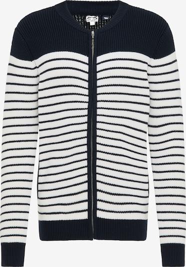 DreiMaster Maritim Cardigan in marine / weiß, Produktansicht