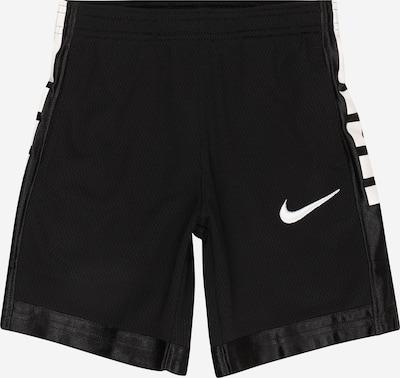 Nike Sportswear Broek 'ELITE' in de kleur Zwart / Wit, Productweergave