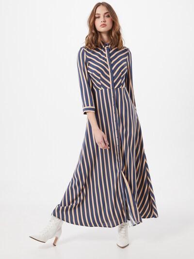 Y.A.S Kleid 'Savanna' in blau / koralle, Modelansicht