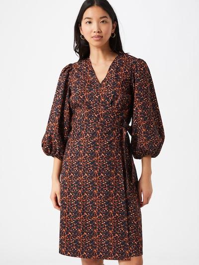 minimum Kleid 'Lenelia' in blau / karamell, Modelansicht