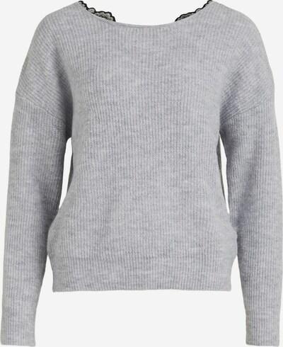 VILA Pullover 'Lala' in graumeliert / schwarz, Produktansicht