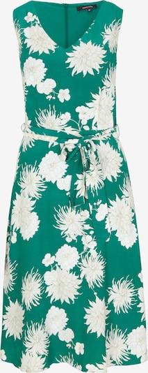 COMMA Kleid in grün / weiß, Produktansicht