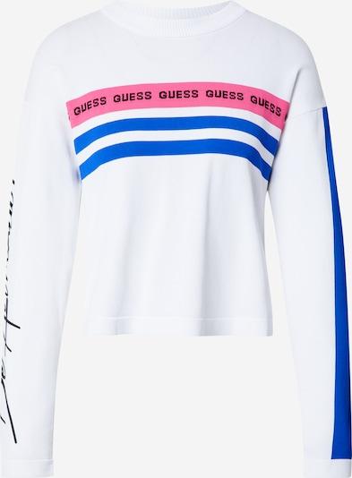 GUESS Sveter - modrá / ružová / biela, Produkt