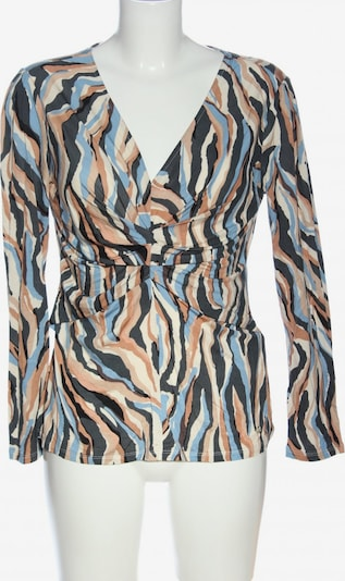 Pedro del Hierro Langarm-Bluse in M in blau / braun / schwarz, Produktansicht