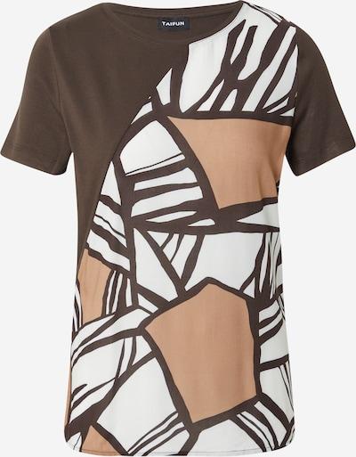 TAIFUN T-Krekls, krāsa - gaiši bēšs / tumši brūns / balts, Preces skats