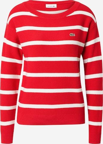 Pullover di LACOSTE in rosso