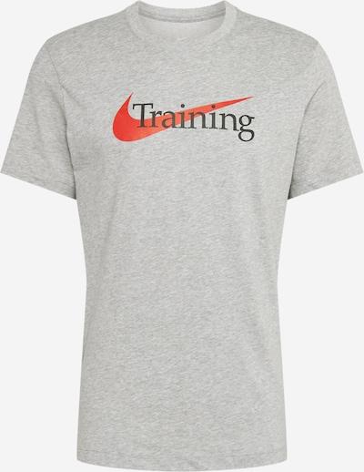 NIKE Functioneel shirt in de kleur Donkergrijs / Rood, Productweergave