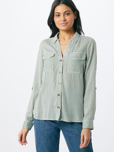 VERO MODA Blouse 'BUMPY' in green / white, View model