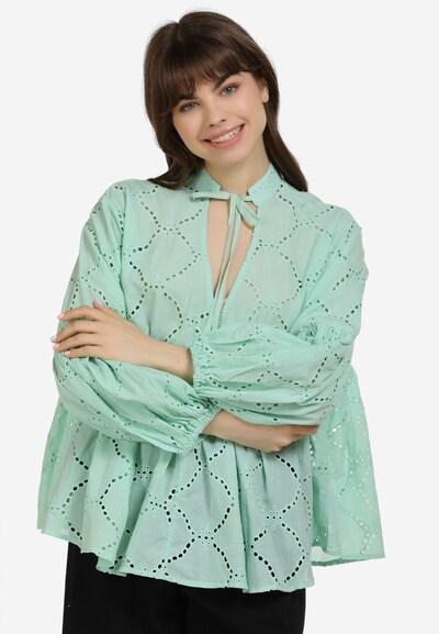 MYMO Bluse in grün, Modelansicht