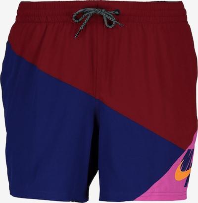 Nike Swim Badeshorts in blau / pink / weinrot, Produktansicht
