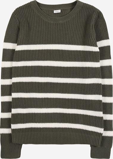 Megztinis iš NAME IT , spalva - žalia / balta, Prekių apžvalga