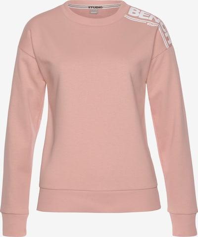 BENCH Sweatshirt in rosa / weiß, Produktansicht